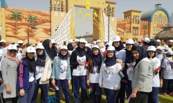 شرکت دانش آموزان متوسطه در sport day امارات در گلوبال ویلیج