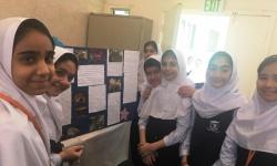بازديد دانش آموزان پایه ششم از نمایشگاه ساینس فر مدرسه خديجه